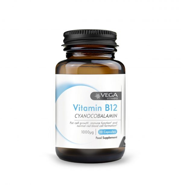Vitamin B12 30 capsules bottle