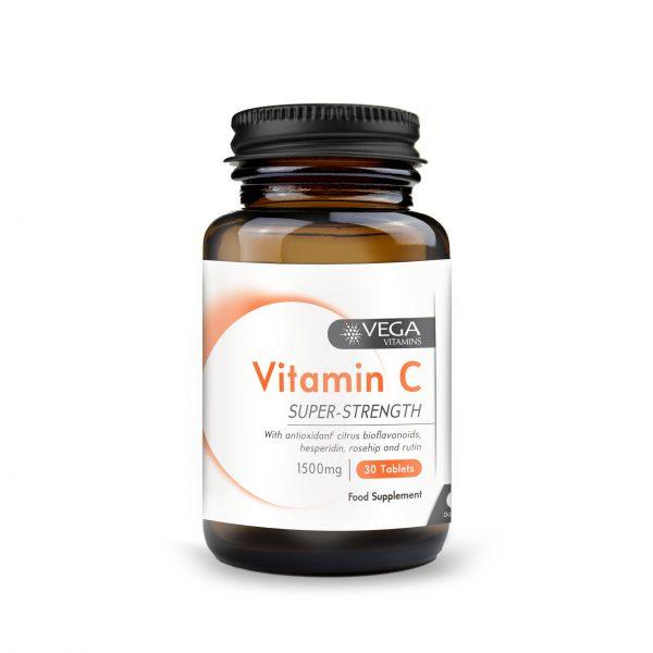 Vitamin C 1500mg 30 capsules bottle