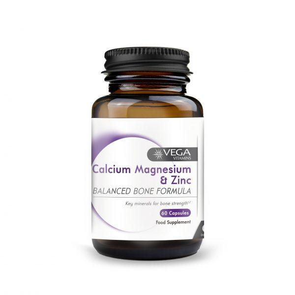 calcium, magnesium and zinc 60 capsule bottle