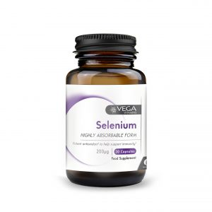 Selenium 30 capsules bottle